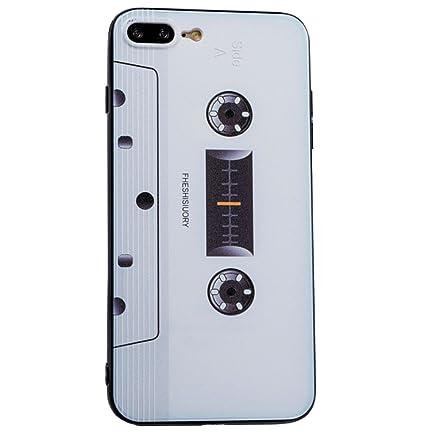 ccbaab3f9 iPhone 8 Plus/7 Plus Case Cassette Tape Design Slim Flexible Anti-shock  Crystal