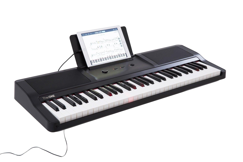 The ONE Smart Piano 61-Key Portable Light Keyboard, USB MIDI Electronic Keyboard Piano - Onyx Black by The ONE Smart Piano