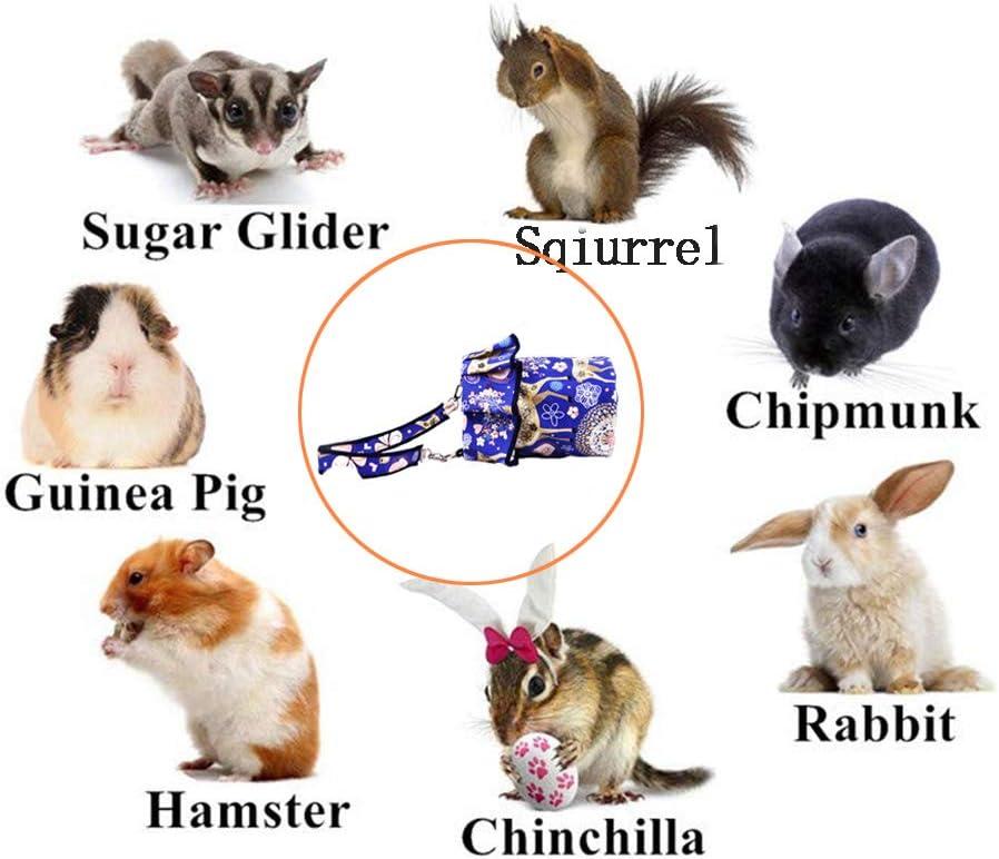 OMEM Pet Carrier Bag Fashion Summer Portable Breathable Outgoing Bag for Small Hedgehog Sugar Glider Squirrel Hamster etc Blue