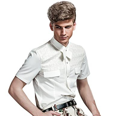 FANZHUAN Camisa Blanca De Vestir Camisa Hombre Blanca Slim ...