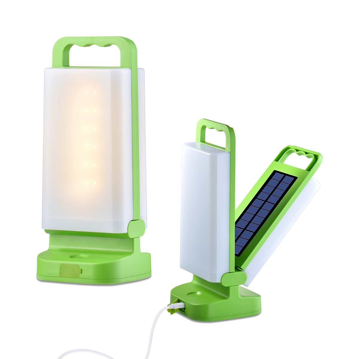 Amforo Portable LED Solar Lights Collapsible Solar Camping Lantern 3 Lighting Modes with 24 LEDs Foldable Rechargeable Solar Panel and USB Charging for Camping Emergencies Hiking Tent Garden Party