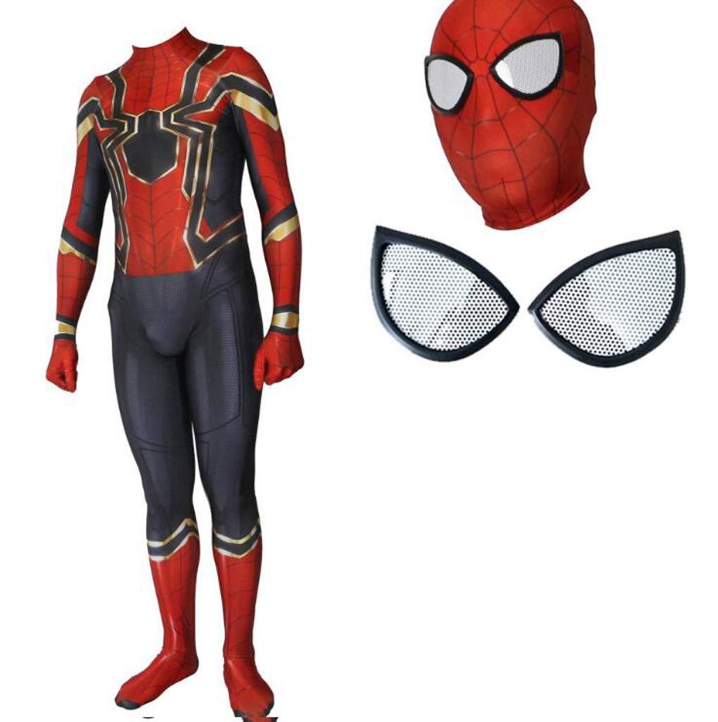 GIFT ZHIZHUXIA Iron Spider-Man Complesso 3 Costume Cosplay Calzamaglia Elastica Movie Game Puntelli Costume Costume Body Ufficiale Spiderman ( Colore   nero-2 , Dimensione   L. )