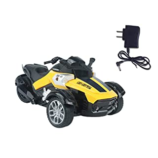 Funnyrunstore 1/14 4CH Telecomando a Raggi infrarossi RC Auto ad Alta velocità da Corsa 3 Ruote ATV Ready-to-Run Triciclo per Moto Fuoristrada Giocattolo