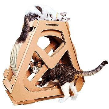 L&XY Tablero del Rasguño del Gato Rueda De Ejercicio del Gato Árbol De Escalada del Árbol