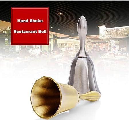 Steel Hand Jingle Bell  Alarm Service Loud Call Horn Training Bell LOT