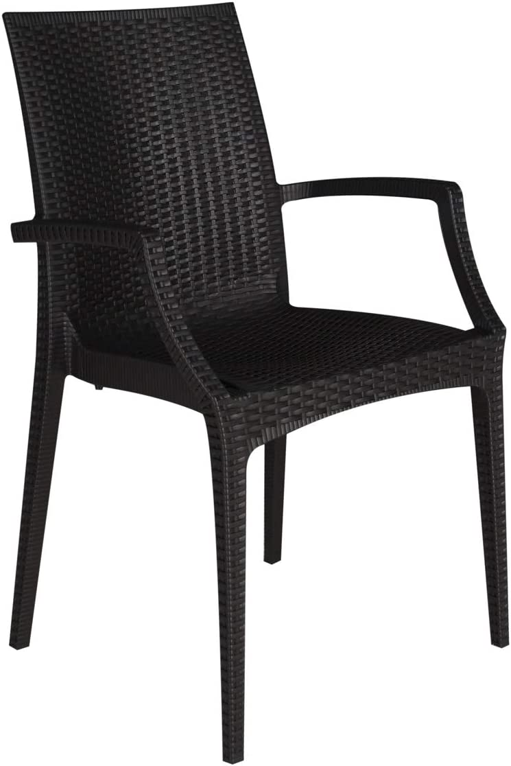 Bar Ristorante Effetto Rattan Resistente GBSHOP Sedia con braccioli//Poltrona da Giardino Ordine Minimo 2 Pezzi