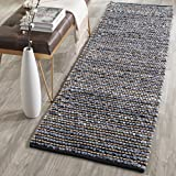 Safavieh Cape Cod Collection CAP365A Hand Woven Blue Jute Runner (2'3'' x 6')
