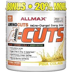 AllMax Amino Cuts - Amino Charged Energy Drink - Pina Colada - (36 serve) 252g