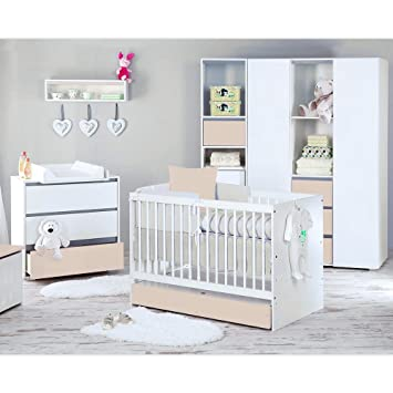 Babyzimmer Dalia In Beige 19 Tlg. Mit 3 Türigem Kl. + Set Memi,
