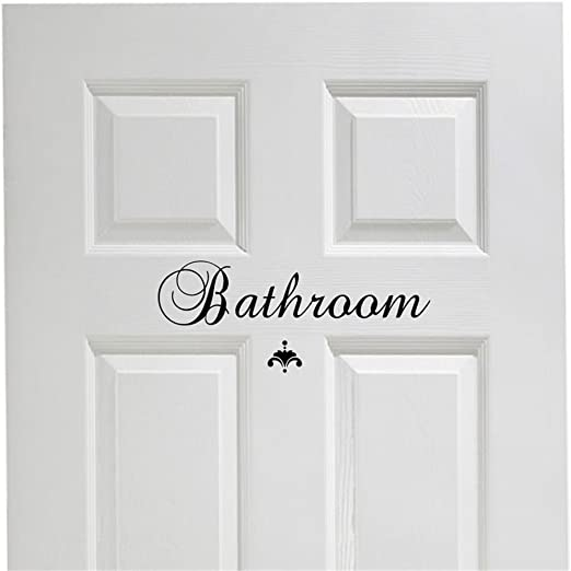 Wall Sticker Home Room Removable Vinyl Decal Art Bathroom Home Door Decoration
