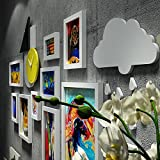 Photo wall industrial wind portfolio photo frame wall fashion watches retro photo wall decorative painting 5 Inch 7 Inch 10 Inch 14 Inch ( Color : White )