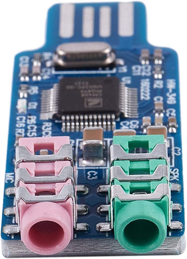 Free driver USB Sound Card CM108 USB Sound Card Chip Blue TOOGOO R