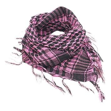 Unisex Lightweight Plaid Tassel Arab Desert Shemagh KeffIyeh Scarf Pashmina Gift