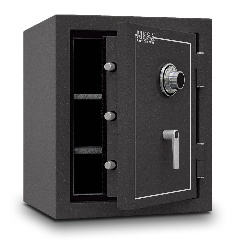 Amazing Mesa Safe MBF2620C All Steel Burglary And Fire Safe With Combination Lock,  4.1 Cubic Feet, Hammered Grey     Amazon.com