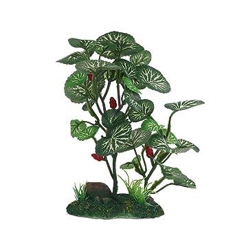 """Viviving Planta Artificial Acuario 6,2"""" Plantas Plástico Alto para Peces Tanques (Verde"""
