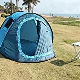 Ezyotudoor 86''x48''x39'' Beach Canopy Tent Shade Shack Instant Pop Up Family Beach Tent and Sun Shelter Cabin Dome Tent