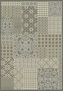 Sitap Alassio Tappeto, Polipropilene Heat-Set 100%, Grigio, 135x195x2 cm