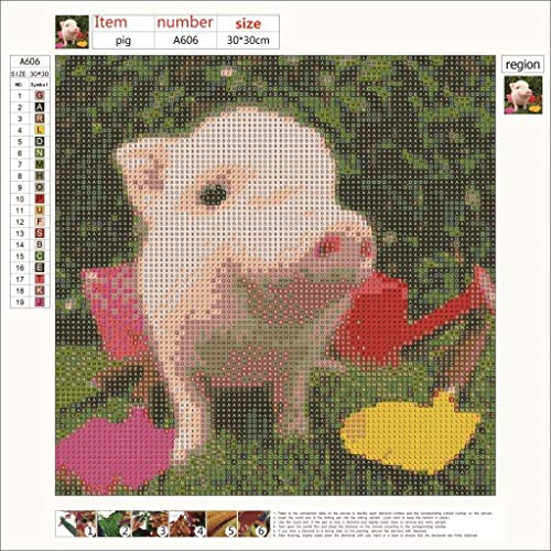 Home & Garden Cross-stitch Aggressive Picture Color Diy Diamond Painting 5d Full Cross Stitch Animal Pig Living Room Bedroom Decorative Painting