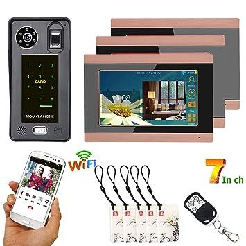 Smart Wireless Voice 2-Wege Gegensprechanlage Türklingel Zutrittskontrollsystem