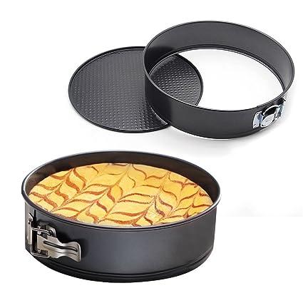 mzch molde desmontable antiadherente a prueba de fugas – Molde tarta de molde para hornear para