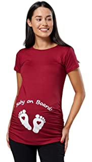 Q.KIM Camiseta Divertido Estampada de Sin Mangas//Manga Corta//Manga Larga Premam/á Para Mujer Embarazo Lactancia T-Shirt-Serie de Huellas