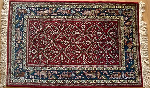 Vintage Handwoven Area Rug Carpet 5.00 x 3.28 ft.