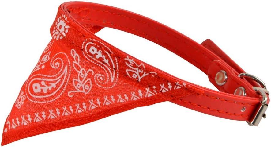 CAOQAO Collier avec Foulard pour Chien Bandana Pet Cou /ÉCharpe R/éGlable Collier De Chien Triangulaire Bandage Nettoyage Serviettes R/éVersible Plaid Printing Mouchoir Aux Animaux Rouge