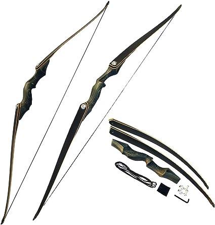 30-60lbs Takedown Langbogen Recurve Bogen 60 Zoll Bogenschießen Outdoor-Jagd