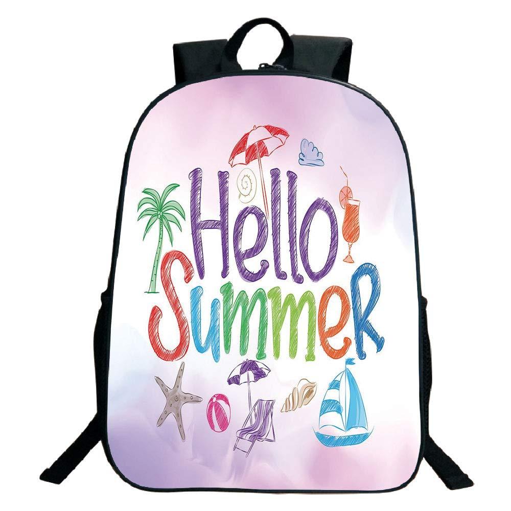 7074645cf4cf Amazon.com: 3D Print Design Black School Bag,backpacksLifestyle ...