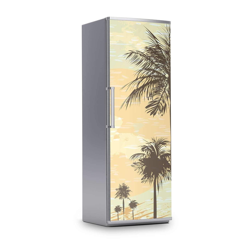 creatisto K/ühlschrank 60x80 cm K/ühlschrankdekor Einbauk/üchen I Dekorfolien K/ühlschrank-Aufkleber Folie Tapete abwaschbar K/ühlschrank versch/önern I Design Motiv Beach Palms