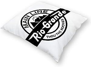 Flax Throw Pillow Cover Rio Grande Rockies Railroad 18x18 Inches Pillowcase Home Decor Square Cotton Linen Pillow Case Cushion Cover