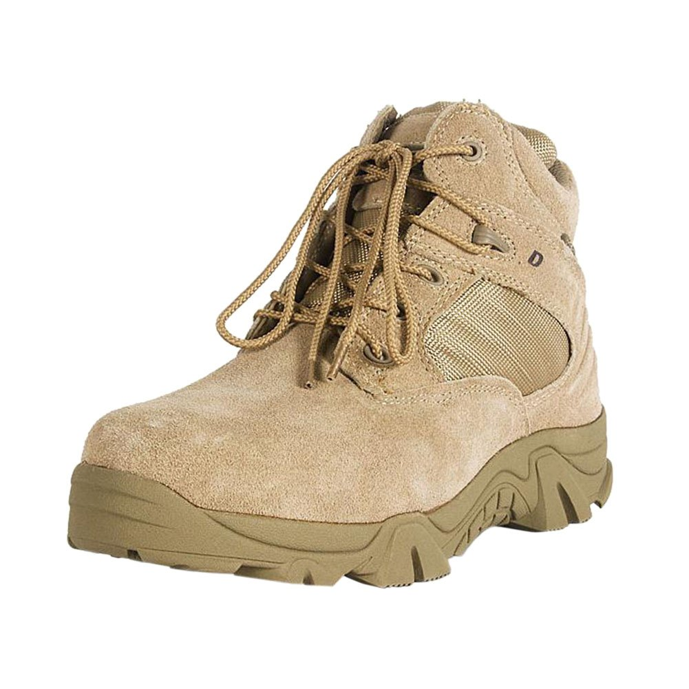 Hzjundasi Botas Piel Ejército Combate Patrulla Táctica Calzado de Protección Policía Zapatos