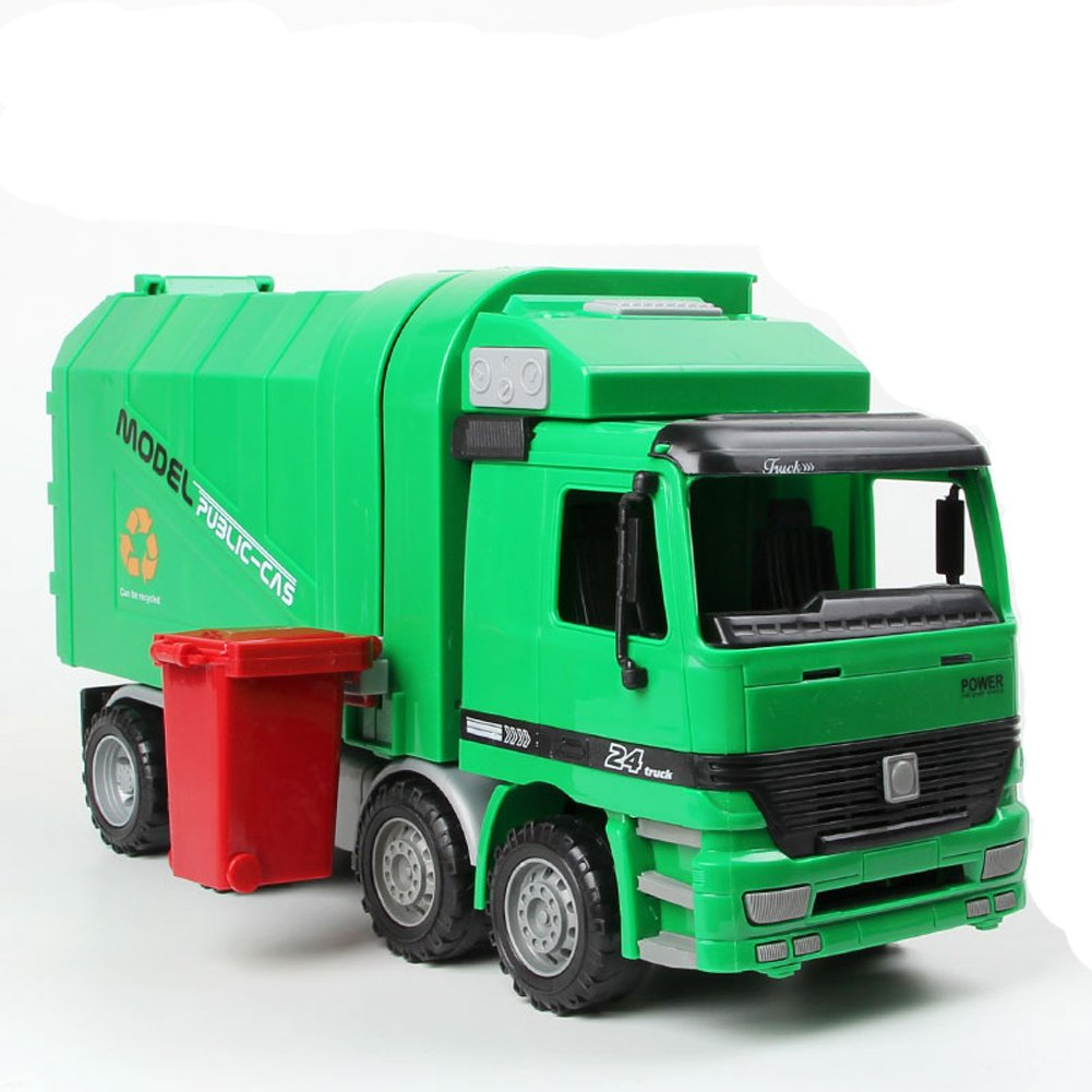 Get ready garbage truck coloring book - Amazon Com Kawo Children Garbage Truck Sanitation Trucks Toy Car Model With Trashcan Toys Games