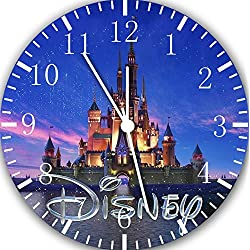 Borderless Cinderella Castle Frameless Wall Clock E19 Nice for Decor Or Gifts