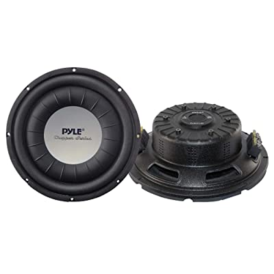 "Car Vehicle Subwoofer Audio Speaker - 10 Inch 1000 Watt Power Ultra Slim DVC Subwoofer w/ Dual 2"" Kapton Voice Coil, 4 Ohm Impedance, 60 Oz Magnet - for Vehicle Stereo Sound System - Pyle PLWCH10D: Car Electronics"