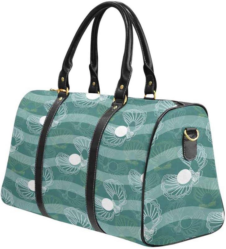 InterestPrint Carry-on Garment Bag Travel Bag Duffel Bag Weekend Bag Ocean Waves and Shells