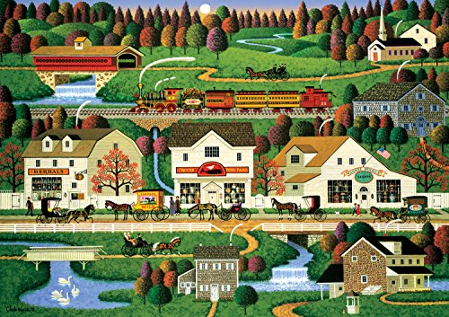 Yankees Buffalo (Buffalo Games - Charles Wysocki Americana Collection - Yankee Wink Hollow - 500 Piece Jigsaw Puzzle)