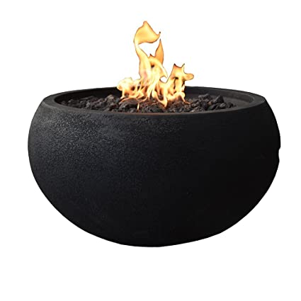 "Modeno Concrete Fire Bowl, Outdoor 26.8"" Propane Fire Pit Table  (Includes 10 ft - Amazon.com : Modeno Concrete Fire Bowl, Outdoor 26.8"