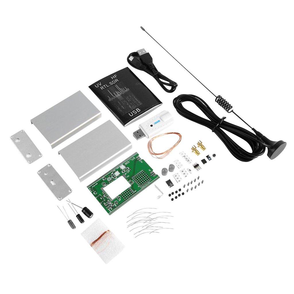Dovewill DIY Kit 100KHz-1.7GHz FM DSB UV HF RTL-SDR USB Tuner Receiver R820T+RTL2832U
