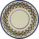 Polish Pottery Saucer 6-inch Poppy Passion UNIKAT
