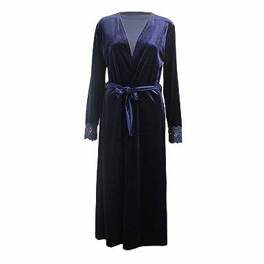db94f0ac25ae Miss Trendy Women Ladies Velvet Long Kimono Open Abaya Maxi lace ...