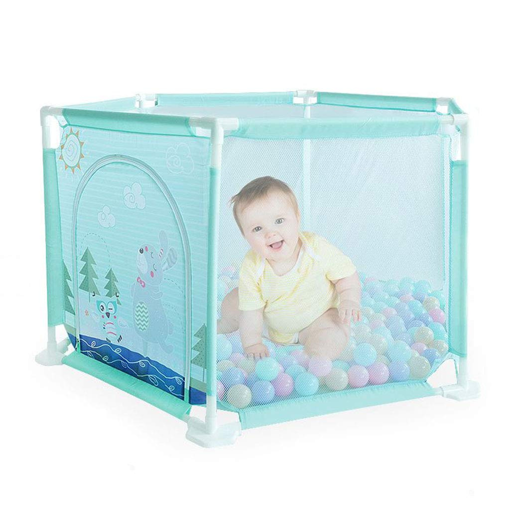 Baby Playpen Safety Fence 6 Panel Kids Activity Center Indoor Playground Predective Toddler Newborn Infant Crawling