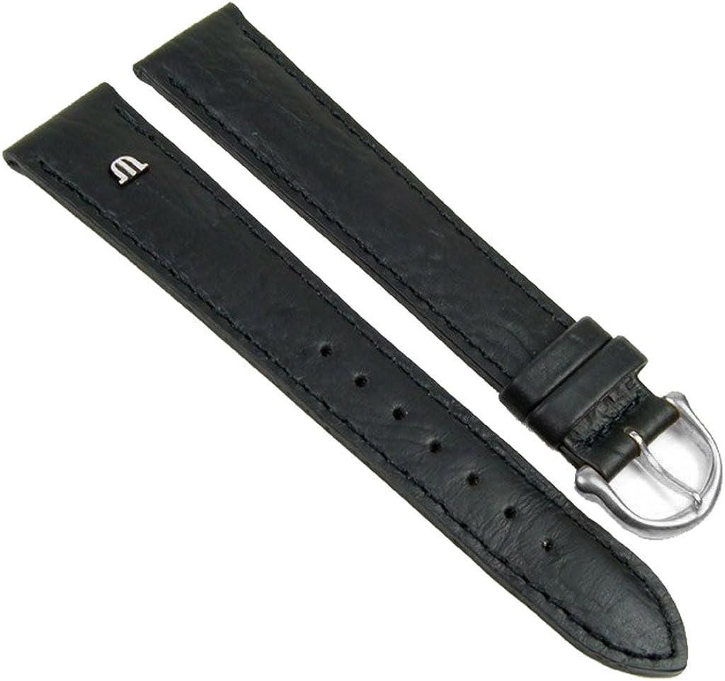 Maurice Lacroix Ersatzband Uhrenarmband Büffelkalb Leder Band Schwarz XL 20901S, Stegbreite:19mm