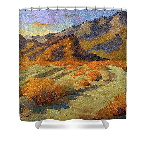 Pixels Shower Curtain (74'' x 71'') ''A Walk In La Quinta Cove''