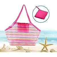 Afufu Bolsa Juguetes Playa, Bolsa de Almacenaje Grande de Malla, Bueno para la Playa de la Familia Juego de niños (de…