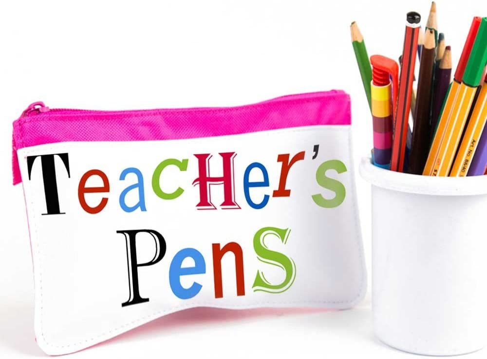 Profesor de regalo, profesor de estuche, Rosa del maestro bolígrafos estuche: Amazon.es: Hogar
