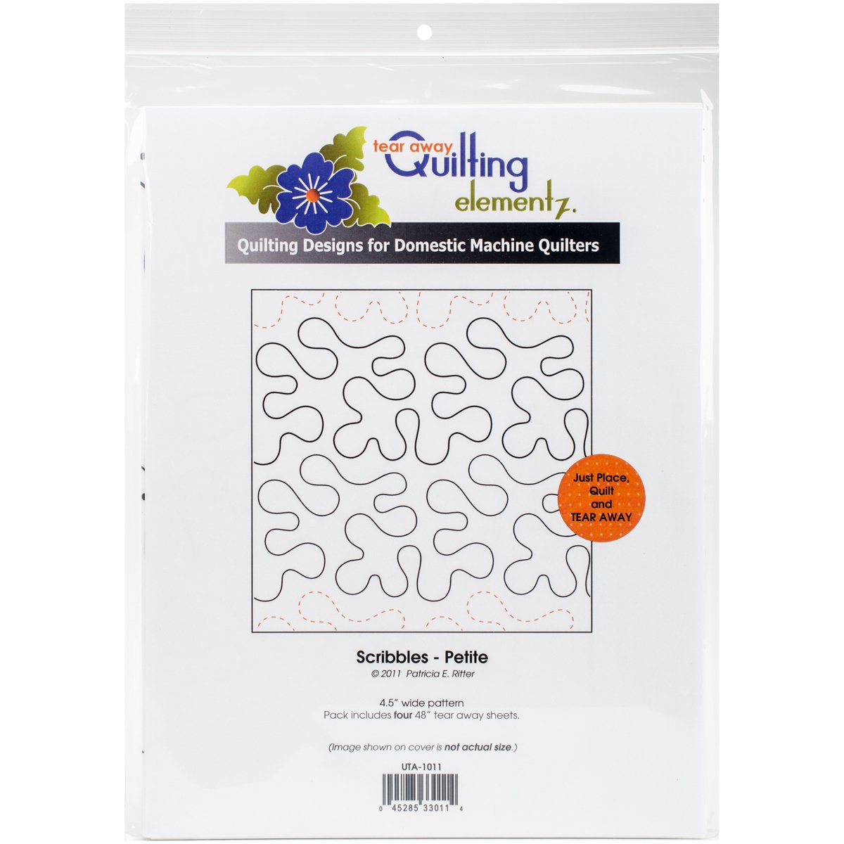 Quilting Creations Scribbles-Petite, 4-1/2 Inch Rows UTA-1011 Urban Elementz Tear Away, 4 Pack by Quilting Creations