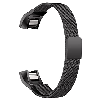 YESOO Fitbit Charge 2 Replacement Band, Stainless Steel Magnetic Milanese  Loop Wrist Strap For Fitbit Charge 2 (2016) Fitness Tracker Heart rate