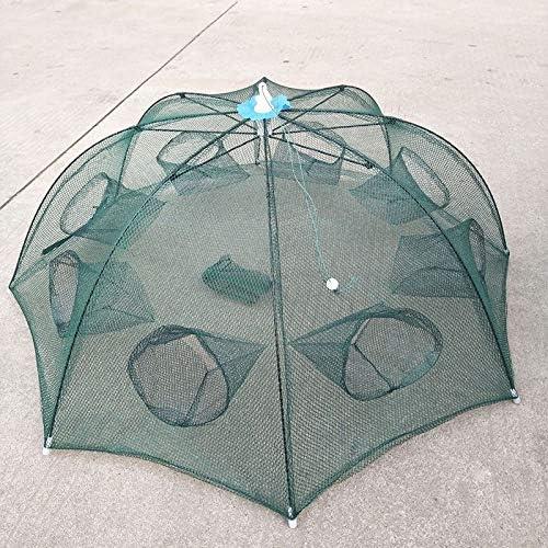 Tmand 8 Loch Netz Gefaltet Tragbare Hexagon Fisch Netz Guss Netze Krebse Garnelen Faenger Tank Falle China Kaefige Mesh