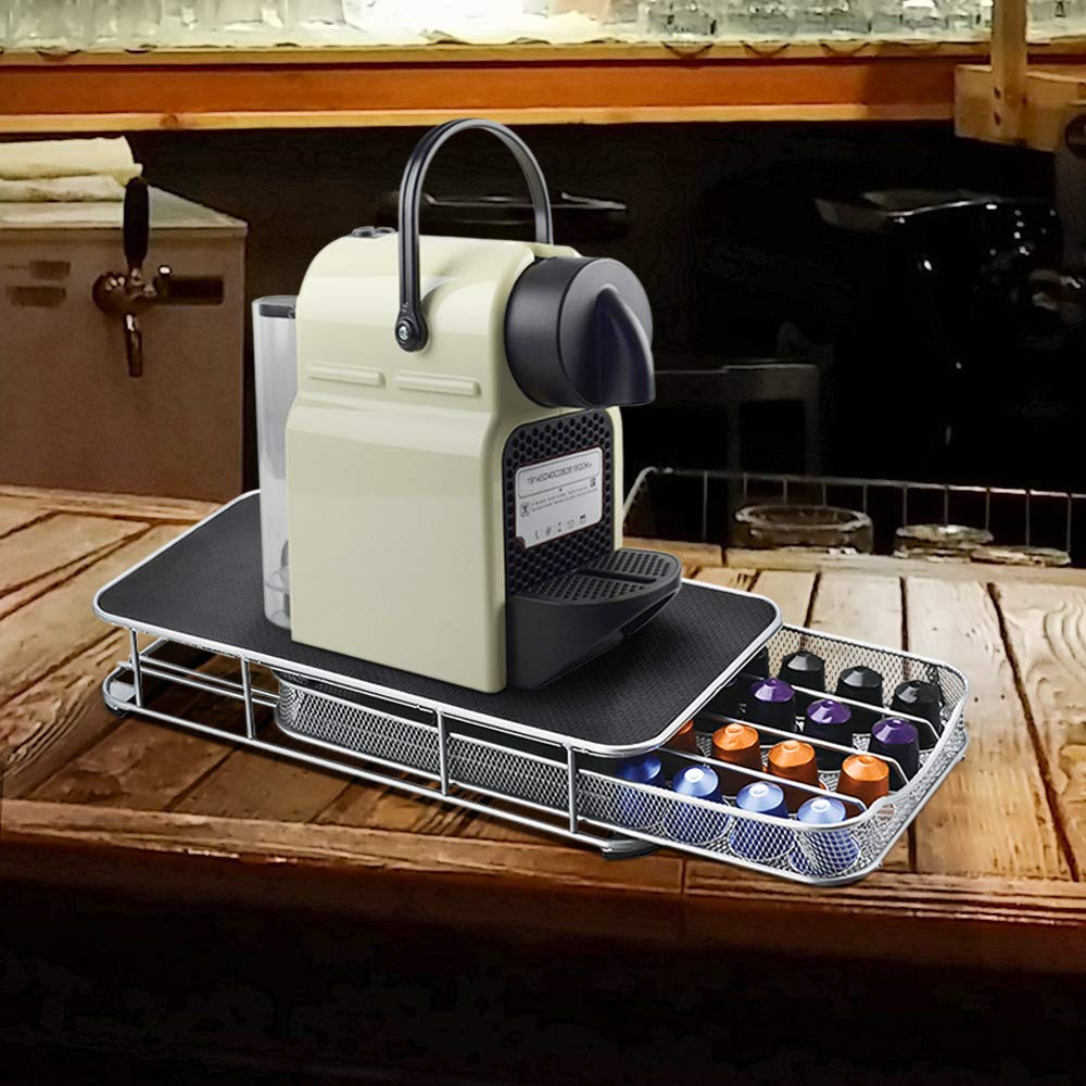 Nexmon Coffee Pod Storage 40 Packs Coffee Capsules Storage Drawer Holder for Nespresso